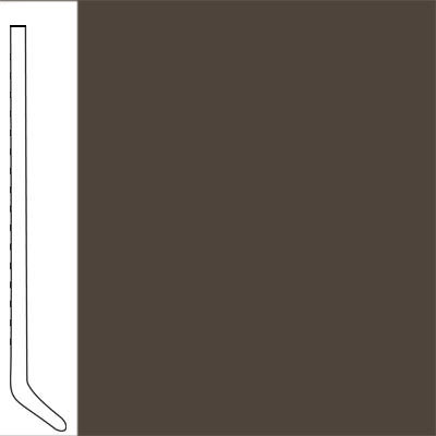 Flexco Wallflowers Wall Base 4-1/2 Cove Black Brown