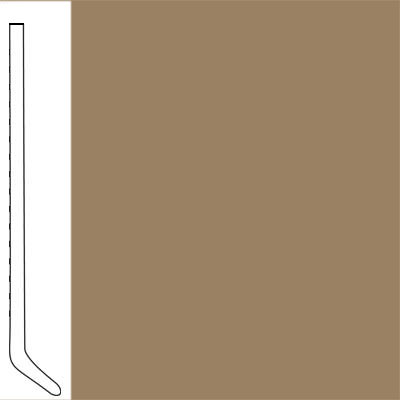 Flexco Wallflowers Wall Base 4-1/2 Cove Burlwood