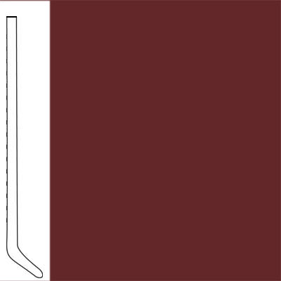 Flexco Wallflowers Wall Base 4-1/2 Cove Burnt Sienna