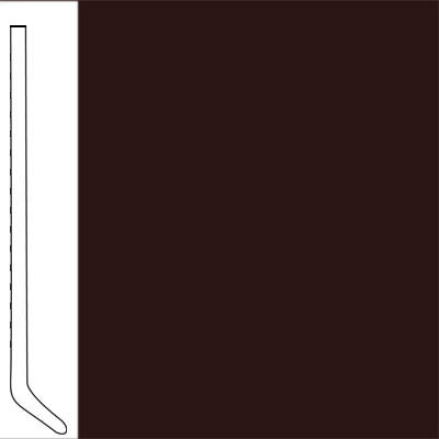 Flexco Wallflowers Wall Base 4-1/2 Cove Coffee Bean