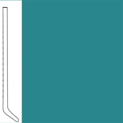 Flexco Wallflowers Wall Base 4-1/2 Cove Mediterranean Green
