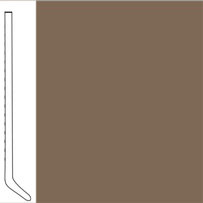 Flexco Wallflowers Wall Base 4-1/2 Cove Milk Chocolate