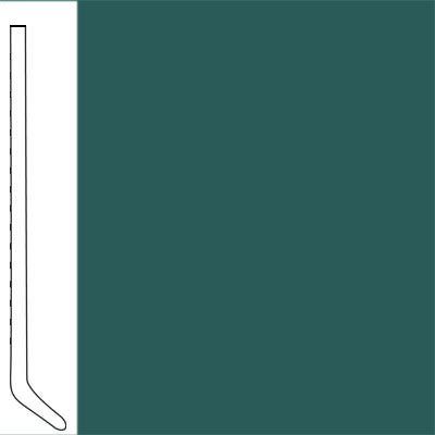 Flexco Wallflowers Wall Base 4-1/2 Cove Polo Green