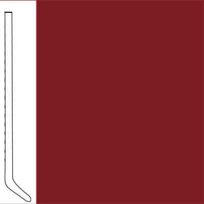 Flexco Wallflowers Wall Base 4-1/2 Cove Sierra Red