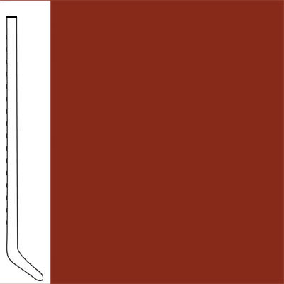 Flexco Wallflowers Wall Base 6 Cove Red Rock