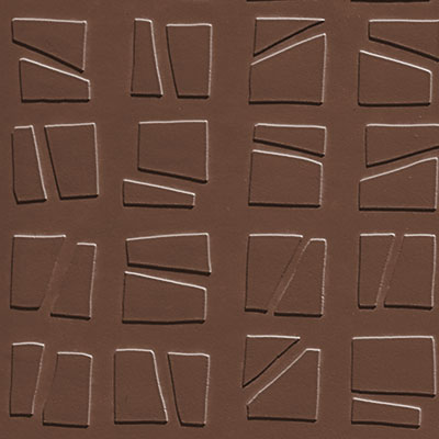 Johnsonite Solid Colors Artistic Square Surface 24 x 24 .125 Milk Chocolate
