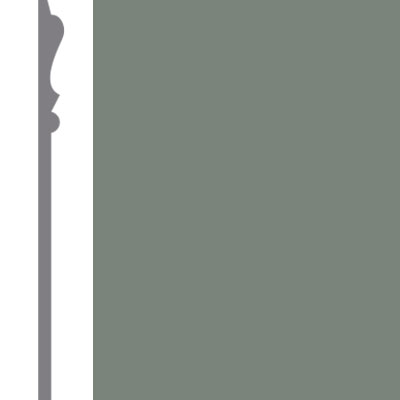Mannington Wall Base Edge Effects Elegance 6 Inch Frosted Jade