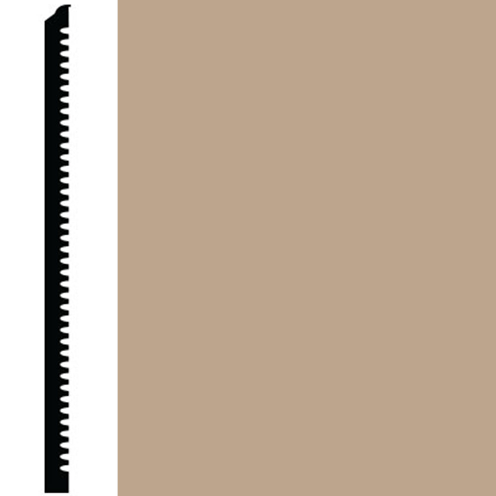 Roppe Contours Wall Base 65 Vertical 4.63 Camel