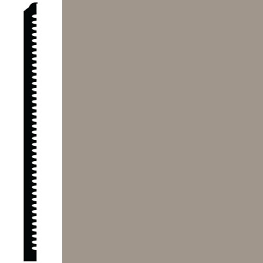 Roppe Contours Wall Base 85 Fashion 6.25 Pewter