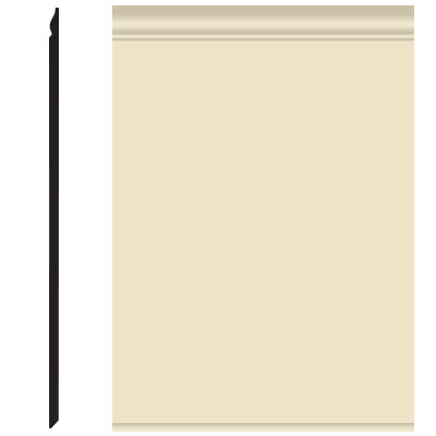 Roppe Pinnacle Plus Wall Base 25 Classic Almond 184