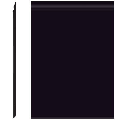 Roppe Pinnacle Plus Wall Base 25 Classic Black 100