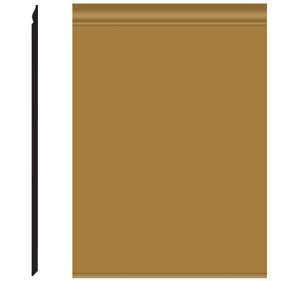 Roppe Pinnacle Plus Wall Base 25 Classic Brass 622