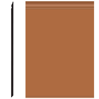 Roppe Pinnacle Plus Wall Base 25 Classic Brick 188