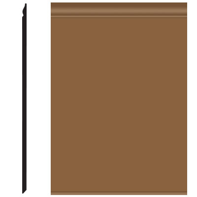 Roppe Pinnacle Plus Wall Base 25 Classic Bronze 625