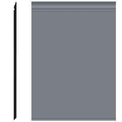 Roppe Pinnacle Plus Wall Base 25 Classic Dark Gray 150