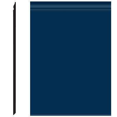 Roppe Pinnacle Plus Wall Base 25 Classic Deep Navy 139