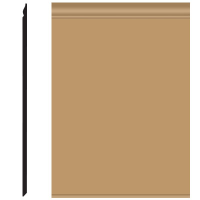 Roppe Pinnacle Plus Wall Base 25 Classic Flax 632
