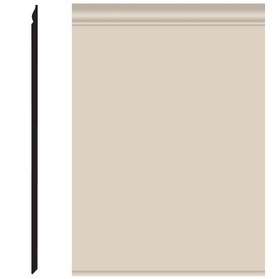 Roppe Pinnacle Plus Wall Base 25 Classic Ivory 198