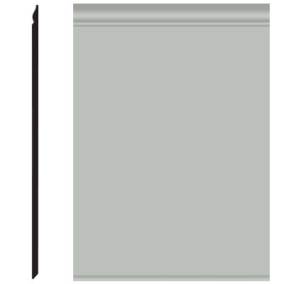 Roppe Pinnacle Plus Wall Base 25 Classic Light Gray 195