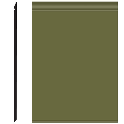 Roppe Pinnacle Plus Wall Base 25 Classic Olive 634