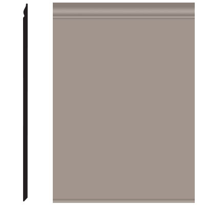 Roppe Pinnacle Plus Wall Base 25 Classic Pewter 178