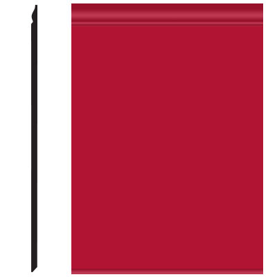 Roppe Pinnacle Plus Wall Base 25 Classic Red 186