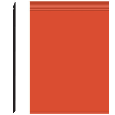 Roppe Pinnacle Plus Wall Base 25 Classic Tangerine 626
