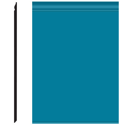 Roppe Pinnacle Plus Wall Base 25 Classic Tropical Blue 606