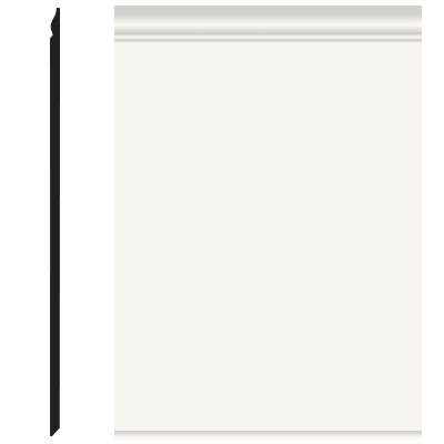 Roppe Pinnacle Plus Wall Base 25 Classic White 170
