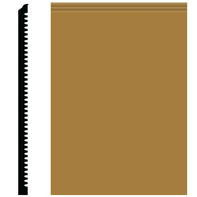 Roppe Pinnacle Plus Wall Base 65 Vertical Brass 622