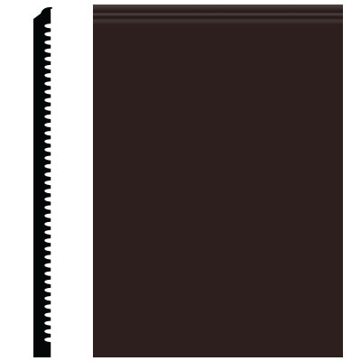 Roppe Pinnacle Plus Wall Base 65 Vertical Brown 110