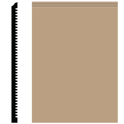 Roppe Pinnacle Plus Wall Base 65 Vertical Buckskin 130