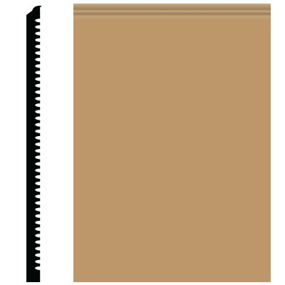 Roppe Pinnacle Plus Wall Base 65 Vertical Flax 632