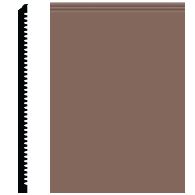 Roppe Pinnacle Plus Wall Base 65 Vertical Toffee 182