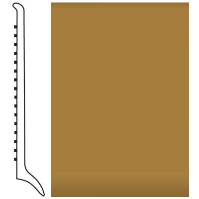 Roppe Pinnacle Rubber Wall Base 4 (Long Toe Base) Brass 622