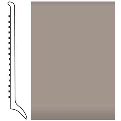 Roppe Pinnacle Rubber Wall Base 4 (Long Toe Base) Pewter 178