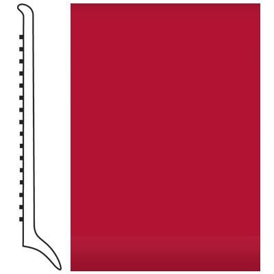 Roppe Pinnacle Rubber Wall Base 4 (Long Toe Base) Red 186