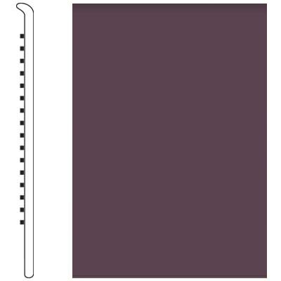 Roppe Pinnacle Rubber Wall Base 5 No Toe Base Burgundy 185