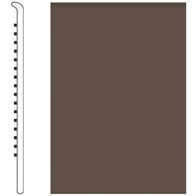 Roppe Pinnacle Rubber Wall Base 5 No Toe Base Light Brown 147