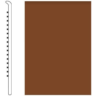 Roppe Pinnacle Rubber Wall Base 5 No Toe Base Nutmeg 623