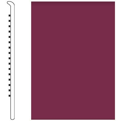 Roppe Pinnacle Rubber Wall Base 5 No Toe Base Plum 620