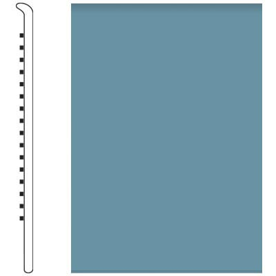 Roppe Pinnacle Rubber Wall Base 5 No Toe Base Salem Blue 154