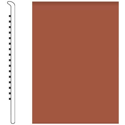 Roppe Pinnacle Rubber Wall Base 5 No Toe Base Terracotta 617