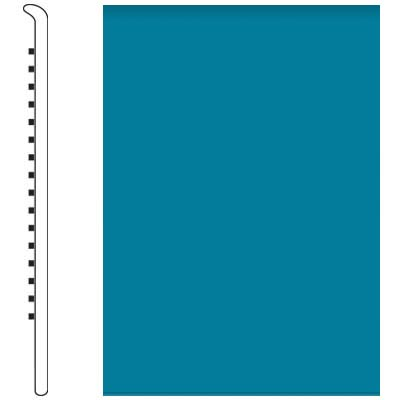 Roppe Pinnacle Rubber Wall Base 5 No Toe Base Tropical Blue 606