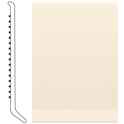 Roppe Pinnacle Rubber Wall Base 6 (Cove Base) Bisque 131