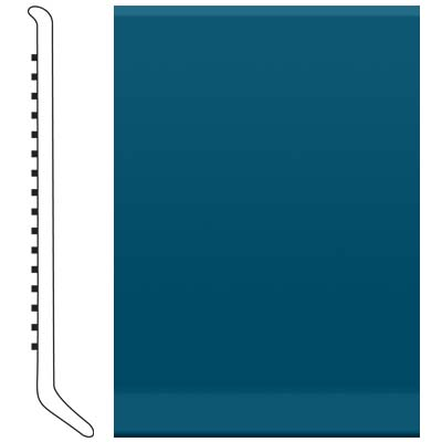 Roppe Pinnacle Rubber Wall Base 6 (Cove Base) Blue 187