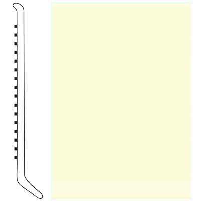 Roppe Pinnacle Rubber Wall Base 6 (Cove Base) Cream 615