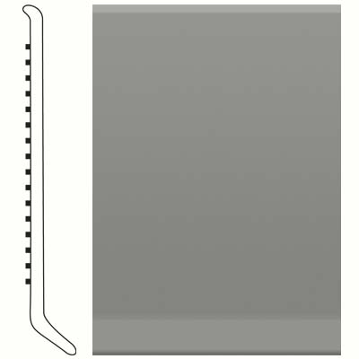 Roppe Pinnacle Rubber Wall Base 6 (Cove Base) Dolphin 129