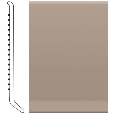 Roppe Pinnacle Rubber Wall Base 6 (Cove Base) Fawn 140