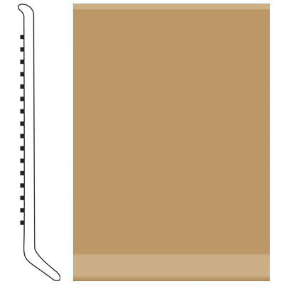 Roppe Pinnacle Rubber Wall Base 6 (Cove Base) Flax 632